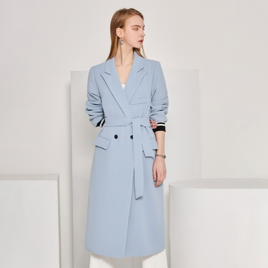 Long double jacket - sky blue