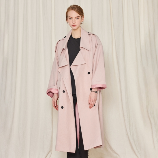 Unique trench coat - pink