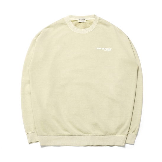 ND Pigment Sweat Shirt (Oatmeal)