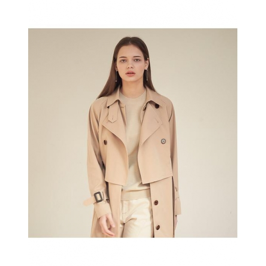 [아쿠드]Gaia Layered Trench Coat_Beige