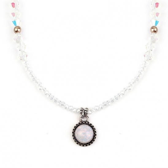 Beads Necklace(WHITE)