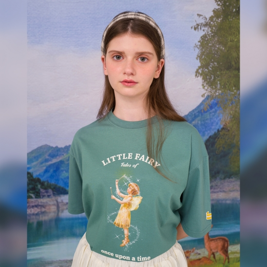 Lily T-shirt(SAND GREEN)