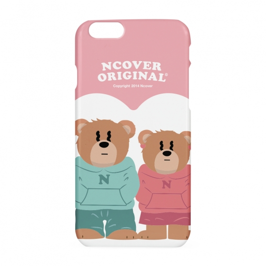 Couple hoodie bruin(blow-up)-pink(hard)