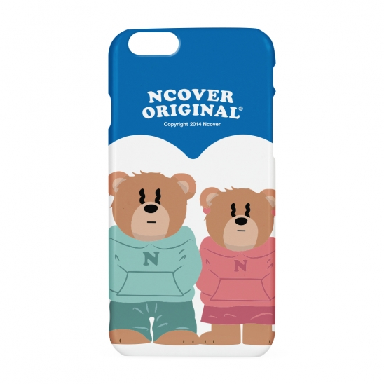 Couple hoodie bruin(blow-up)-blue(hard)