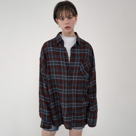 [남/여] NEW vintage check shirt_red