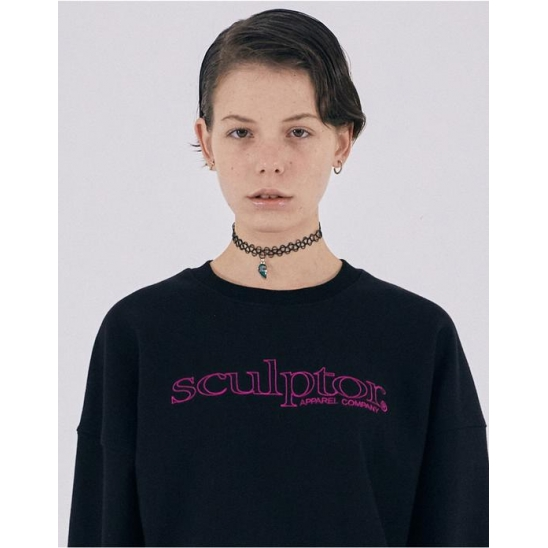20SS Retro Outline Sweatshirt [BLACK]