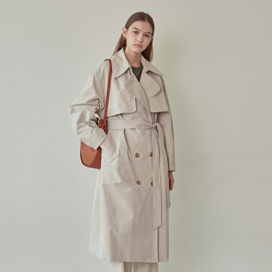 MAX PUFF TRENCH COAT_BEIGE