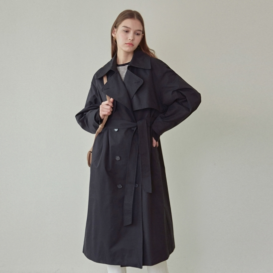 MAX PUFF TRENCH COAT_BLACK