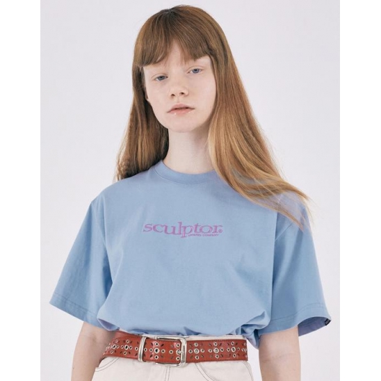 Small Logo Embroidery Tee [BABY BLUE]