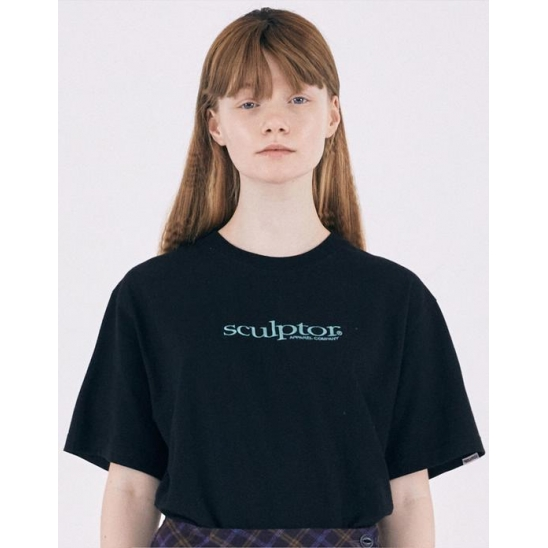 Small Logo Embroidery Tee [BLACK]