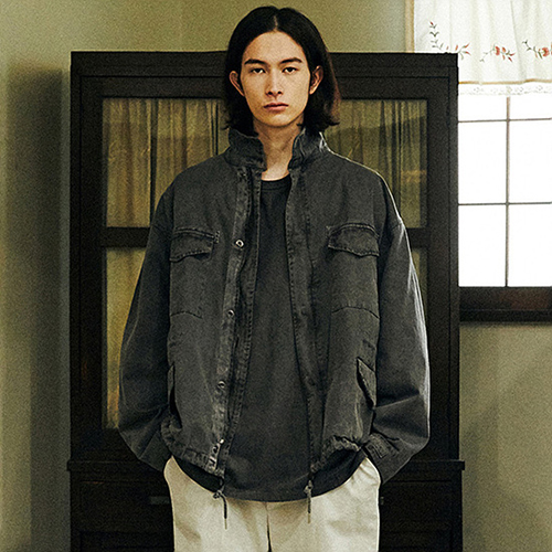 PIECE DYEING OVER JACKET_CHARCOAL