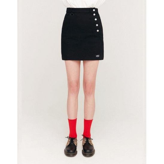 SIDE BUTTON POINT SKIRTS_BLACK