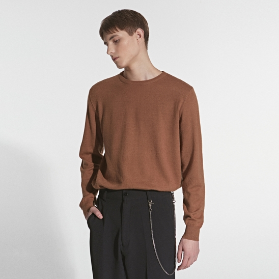 ESSENTIAL ROUND KNIT_BROWN