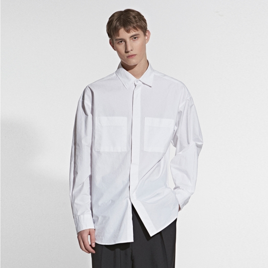 TWO POCKET POINT SHIRT_IVORY