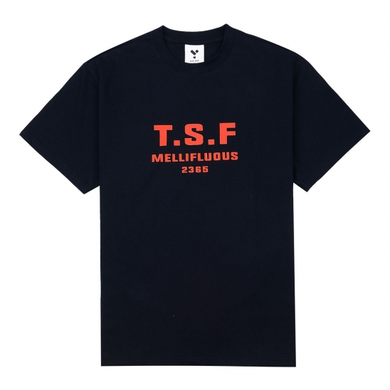 23.65 TSF SHORT SLEEVE T-SHIRT BLACK/ORANGE