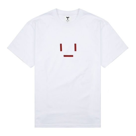 23.65 EMOTICON HALF T-SHIRT WHITE/RED