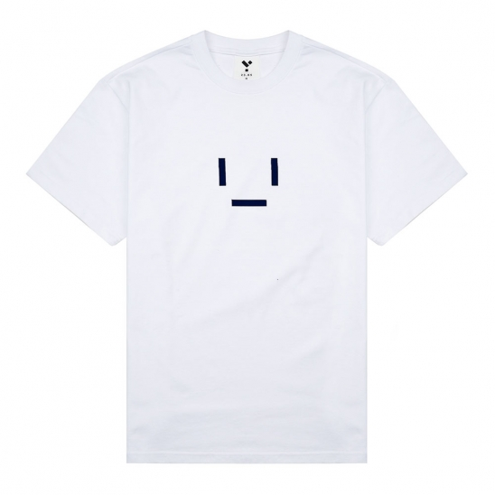 23.65 EMOTICON HALF T-SHIRT WHITE/NAVY