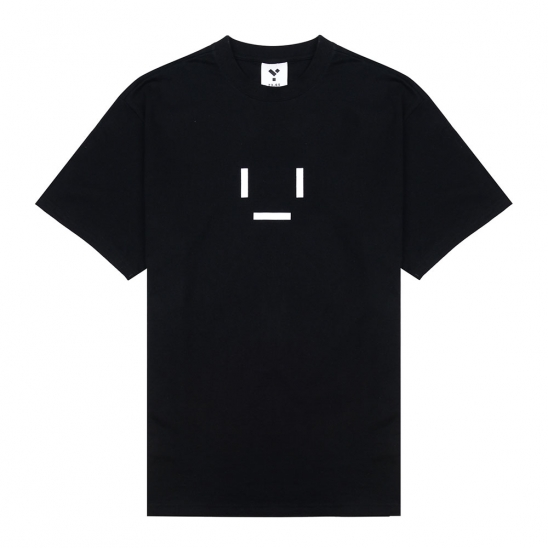 23.65 EMOTICON HALF T-SHIRT BLACK