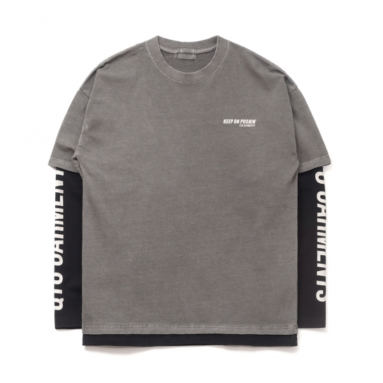 FG K.P Pigment Layered Tee (Charcoal)