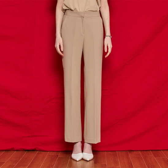 Straight slacks - beige