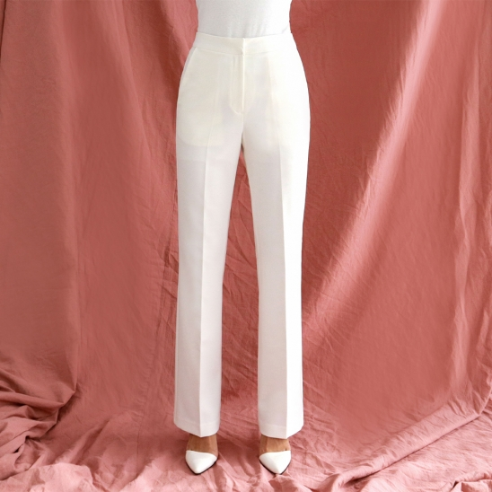 Straight slacks - white