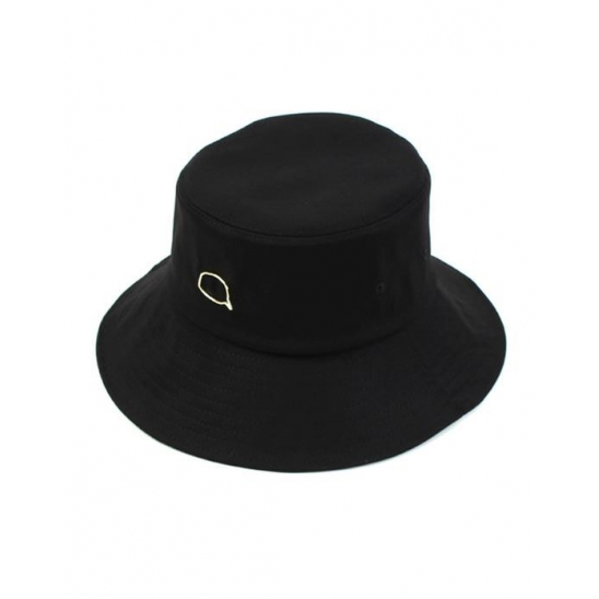 Gold Bubble Over Bucket Hat Black