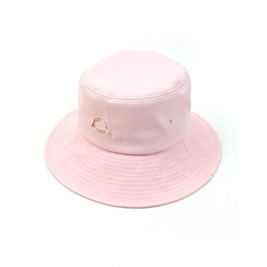 Gold Bubble Over Bucket Hat Pink