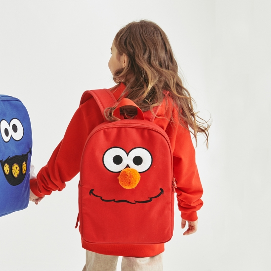 [SS20 SV X Sesame Street] Face Backpack for Kids(Red)
