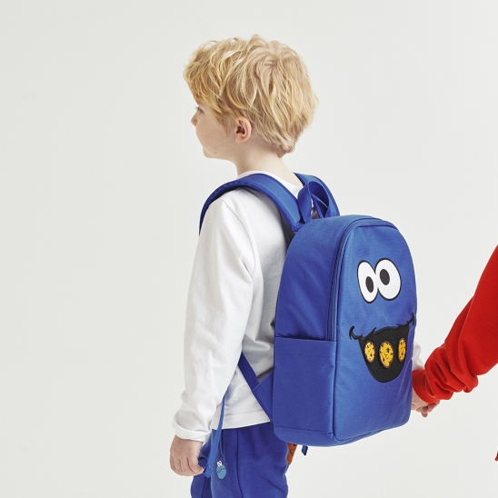 [SS20 SV X Sesame Street] Face Backpack for Kids(Blue)