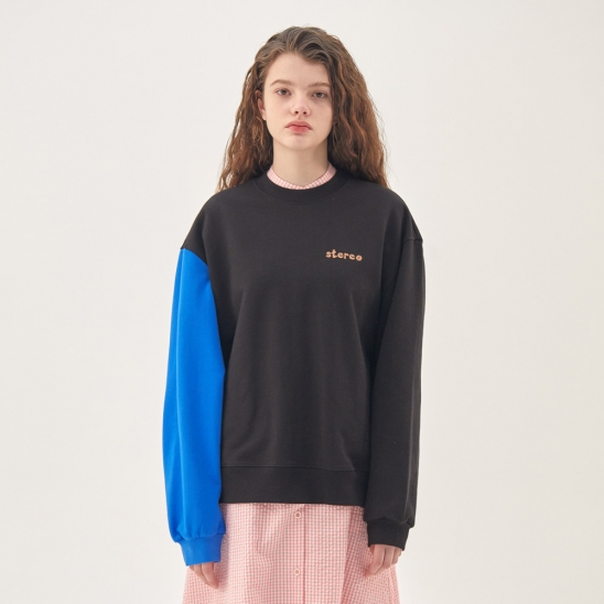 [SS20 SV X Sesame Street] Sleeve Point Sweatshirts(Black)