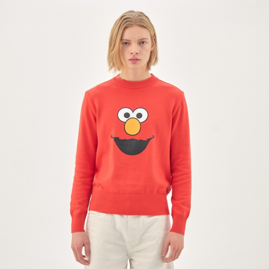 [SS20 SV X Sesame Street] Face Printed Knit(Red)