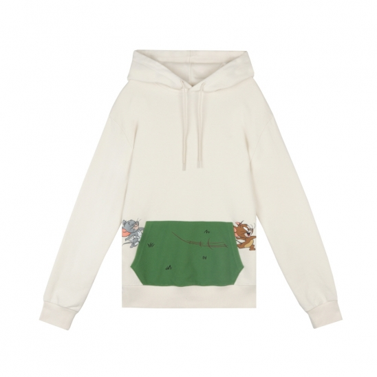 [SS20 Stereo & Jerry] Grass Pocket Hoodie(Ivory)