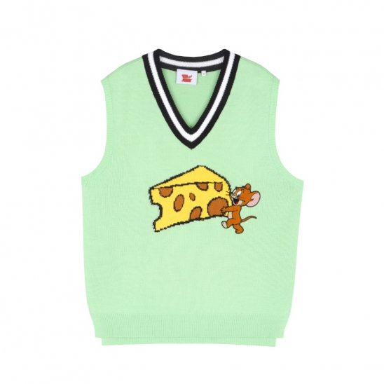 [SS20 Stereo & Jerry] Jerry & Cheese Vest(Mint)