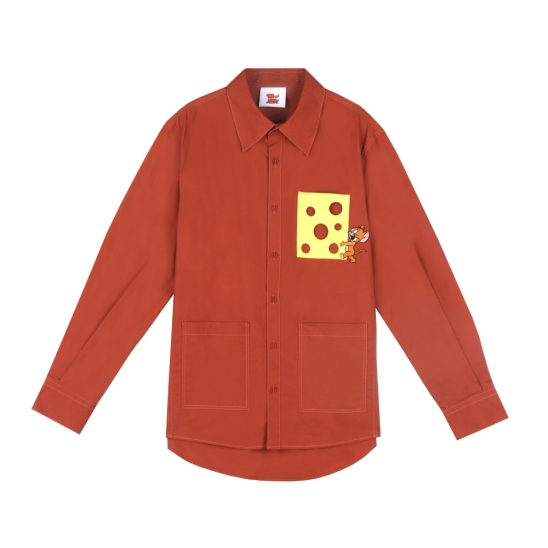 [SS20 Stereo & Jerry] Cheese Pocket Shirts(Brown)