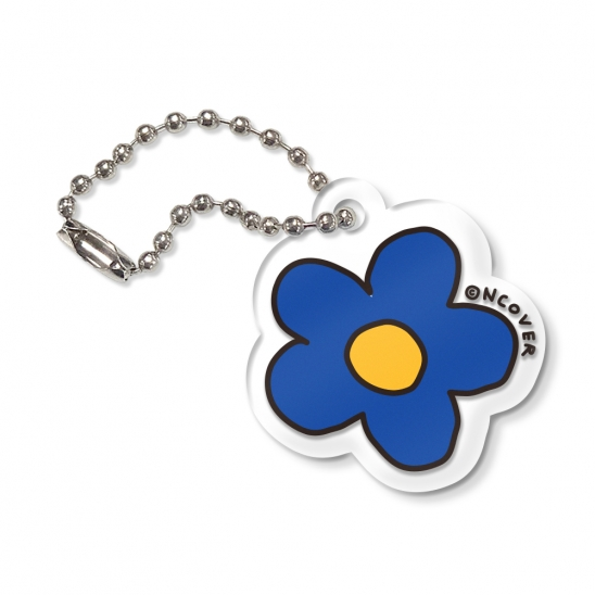 Flower-blue(key ring)