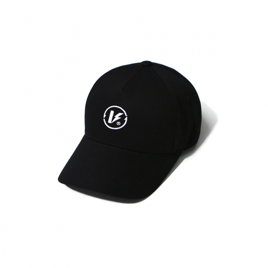EMBROIDERED LOGO BALL CAP BLACK(5 PANEL)