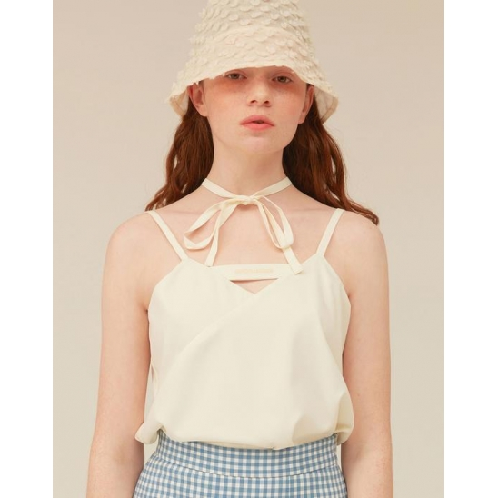 [OiOiCOLLECTION] CHOCKER SLIT BUSTIER_IVORY