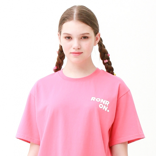 Outline regular fit T-shirts cherry pink