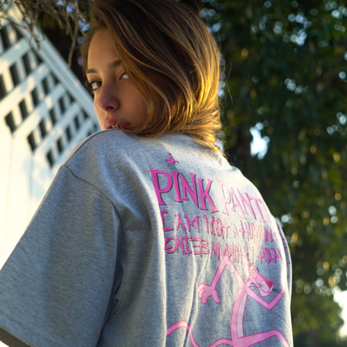 [PPXHB] Pink Panther and Inspector T-Shirt - Gray