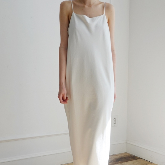 Mari Slip Dress #White