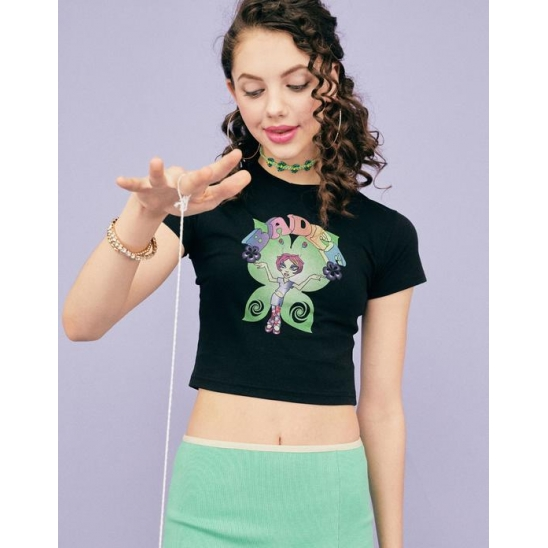 BUTTERFLY GRAPHIC T-SHIRT [BLACK]