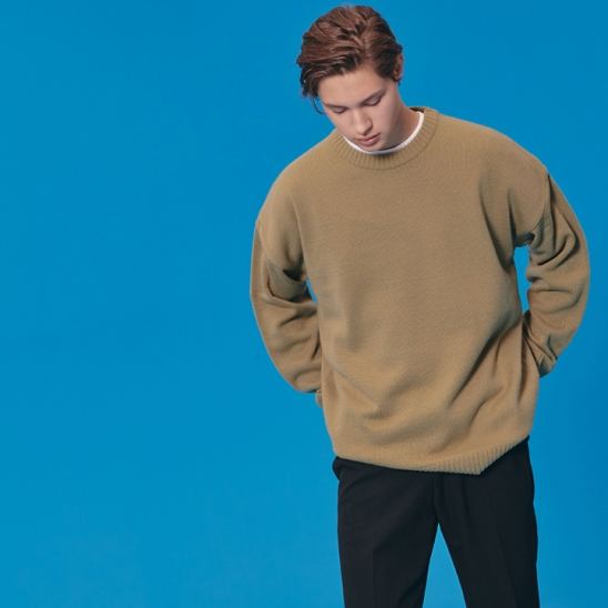 ROUND KNIT SWEATER_OLIVE