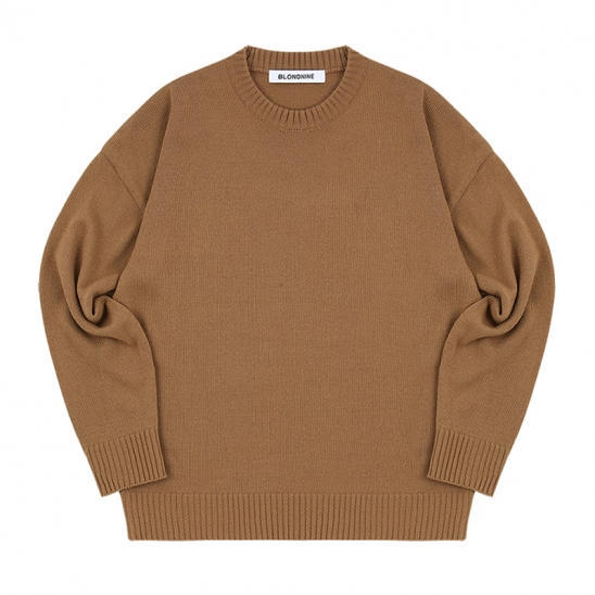 ROUND KNIT SWEATER_CAMEL