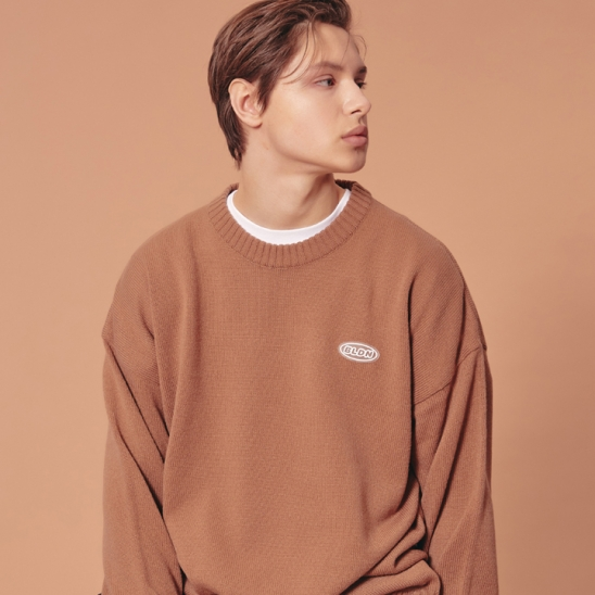 WAPPEN ROUND KNIT SWEATER_CAMEL