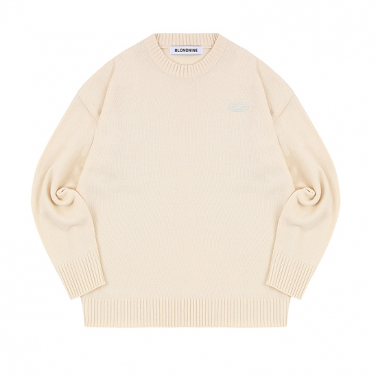 WAPPEN ROUND KNIT SWEATER_IVORY