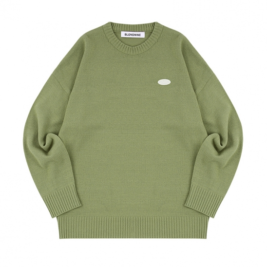 WAPPEN ROUND KNIT SWEATER_OLIVE