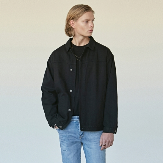 OVER NEWEST TRUCKER JACKET_BLACK
