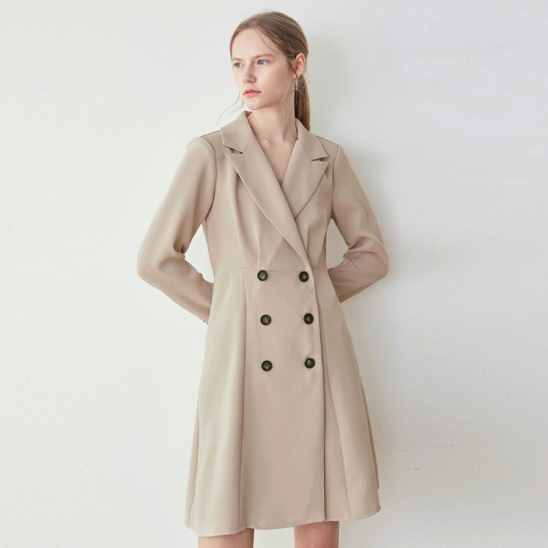 FLARE DOUBLE JACKET OPS_BEIGE