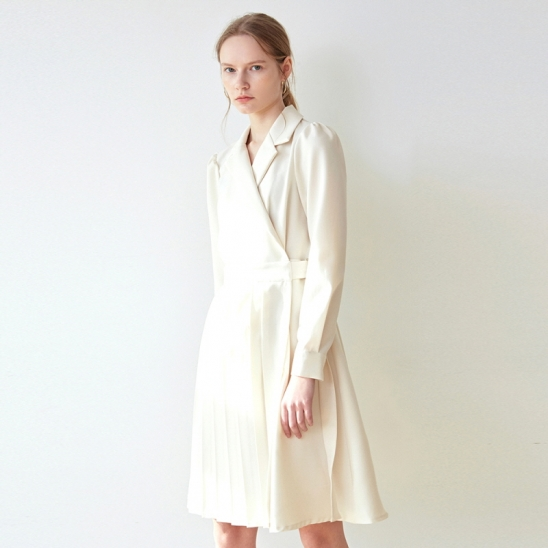PLEATS RING JACKET OPS_CREAM