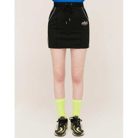 PIPING POINT TRACK SKIRT_BLACK